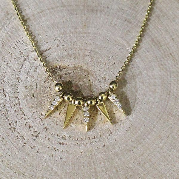 Gold and Diamond Dagger Necklace Darrah Cooper, Inc. Lake Placid, NY