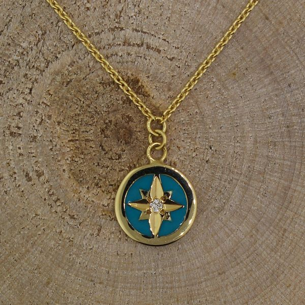 Enamel and Diamond Star Necklace Darrah Cooper, Inc. Lake Placid, NY