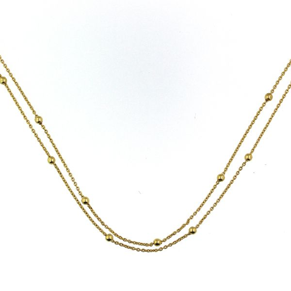 Double Chain Choker Necklace Image 2 Darrah Cooper, Inc. Lake Placid, NY