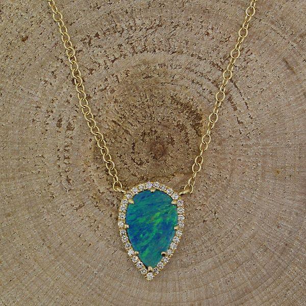 Boulder Opal and Diamond Necklace Darrah Cooper, Inc. Lake Placid, NY