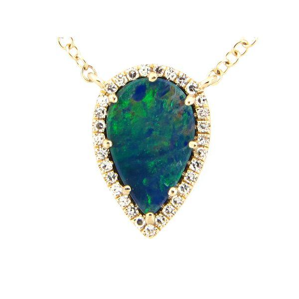 Boulder Opal and Diamond Necklace Image 2 Darrah Cooper, Inc. Lake Placid, NY