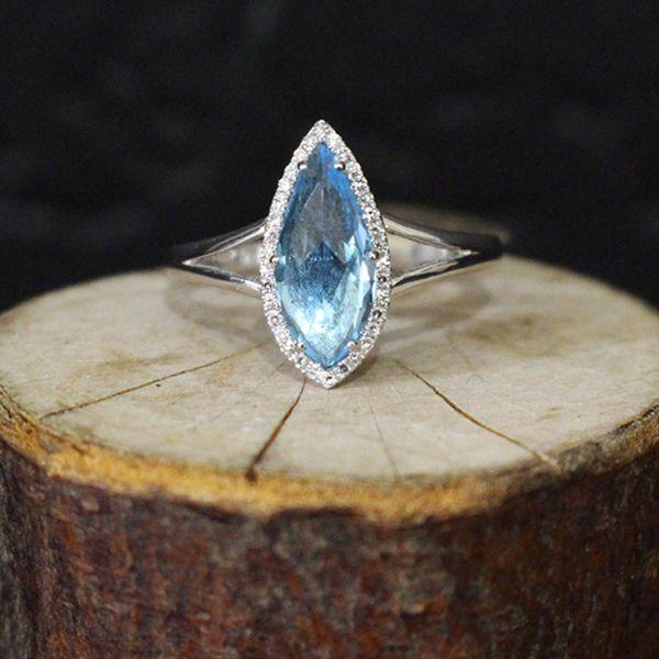 Blue Topaz and Diamond Ring Darrah Cooper, Inc. Lake Placid, NY
