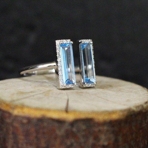 Blue Topaz and Diamond Ring Image 2 Darrah Cooper, Inc. Lake Placid, NY