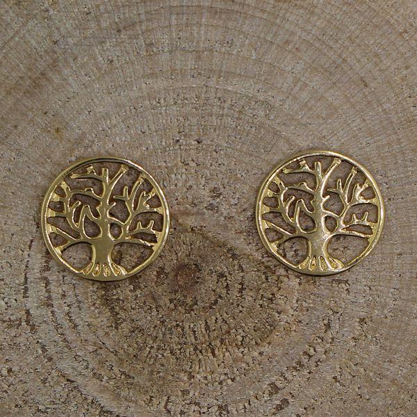 Gold Tree Earrings Darrah Cooper, Inc. Lake Placid, NY