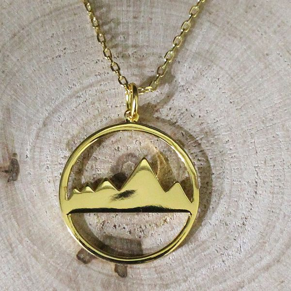 Gold Plated Mountain Necklace Darrah Cooper, Inc. Lake Placid, NY
