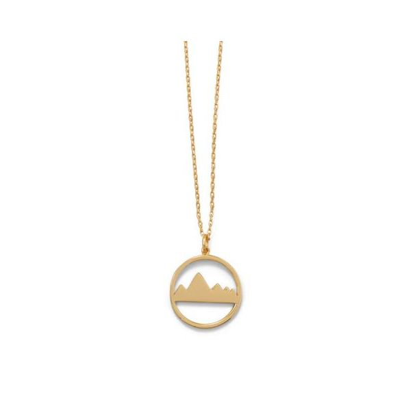 Gold Plated Mountain Necklace Image 2 Darrah Cooper, Inc. Lake Placid, NY