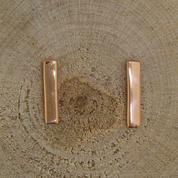 Rose Gold Plated Bar Earrings Darrah Cooper, Inc. Lake Placid, NY