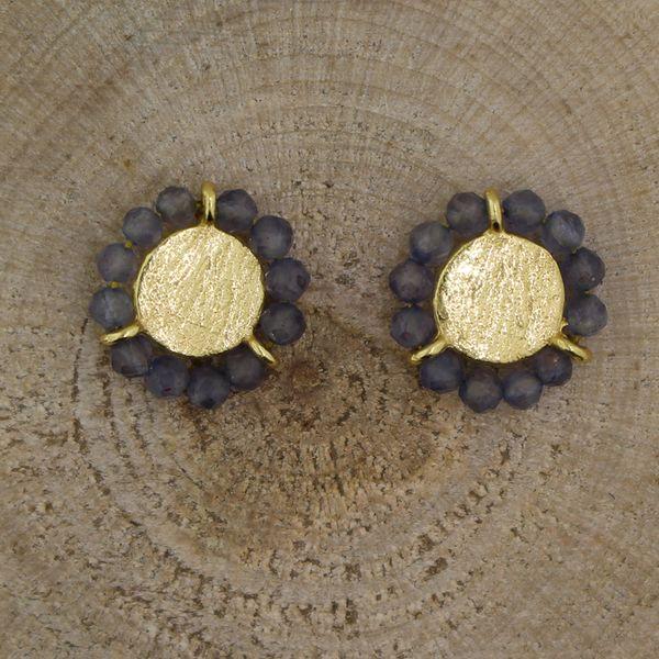 Gold Plated  Lavender Crystal Earrings Darrah Cooper, Inc. Lake Placid, NY