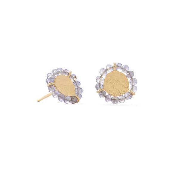 Gold Plated  Lavender Crystal Earrings Image 2 Darrah Cooper, Inc. Lake Placid, NY