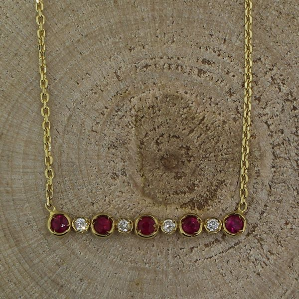 Ruby and Diamond  Bar Necklace Darrah Cooper, Inc. Lake Placid, NY