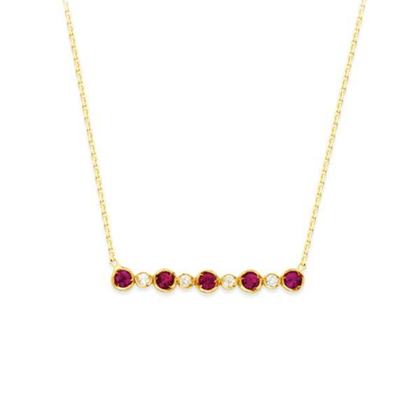 Ruby and Diamond  Bar Necklace Image 2 Darrah Cooper, Inc. Lake Placid, NY