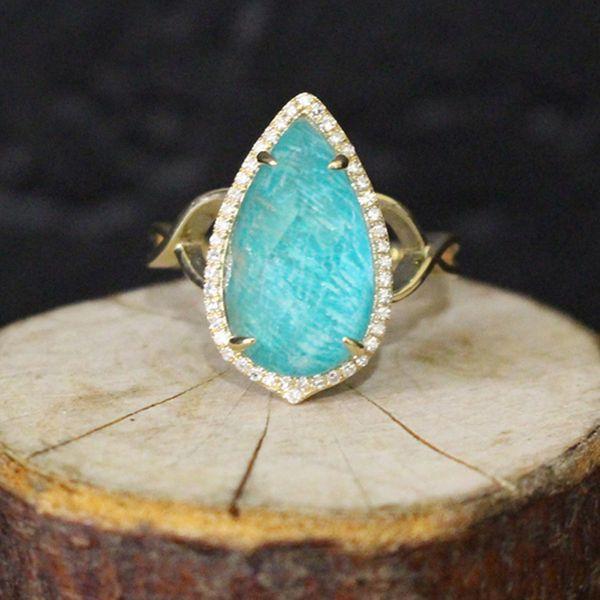 Amazonite, Quartz, and Diamond Ring Darrah Cooper, Inc. Lake Placid, NY