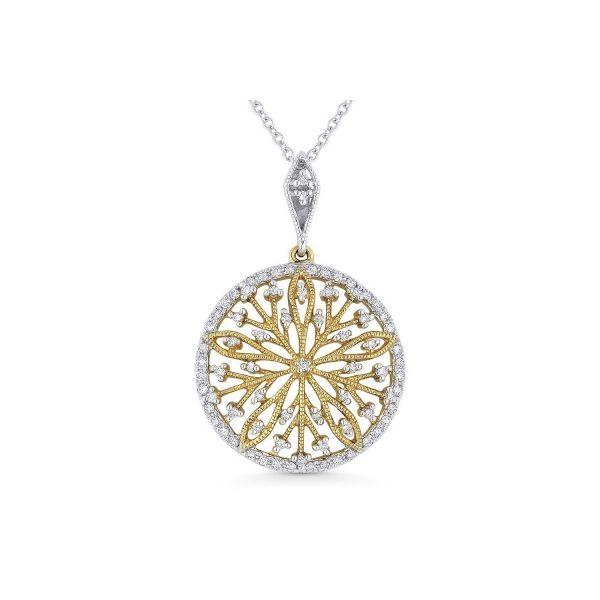 Diamond Designed Medallion Necklace Image 2 Darrah Cooper, Inc. Lake Placid, NY