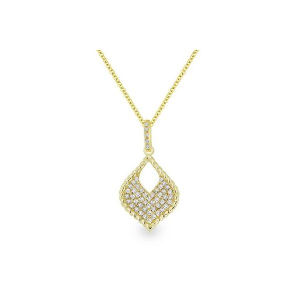 Diamond Teardrop Necklace Image 2 Darrah Cooper, Inc. Lake Placid, NY