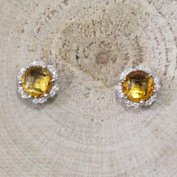Citrine and Diamond Earrings Darrah Cooper, Inc. Lake Placid, NY