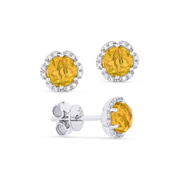 Citrine and Diamond Earrings Image 2 Darrah Cooper, Inc. Lake Placid, NY