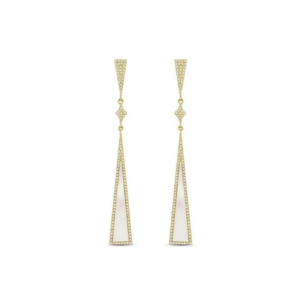 Mother of Pearl and Diamond Earrings Image 2 Darrah Cooper, Inc. Lake Placid, NY