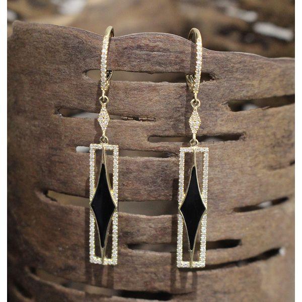 Black Enamel and Diamond Earrings Darrah Cooper, Inc. Lake Placid, NY