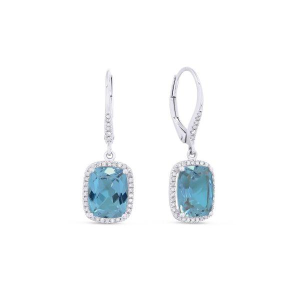 Blue Topaz and Diamond Earrings Image 2 Darrah Cooper, Inc. Lake Placid, NY