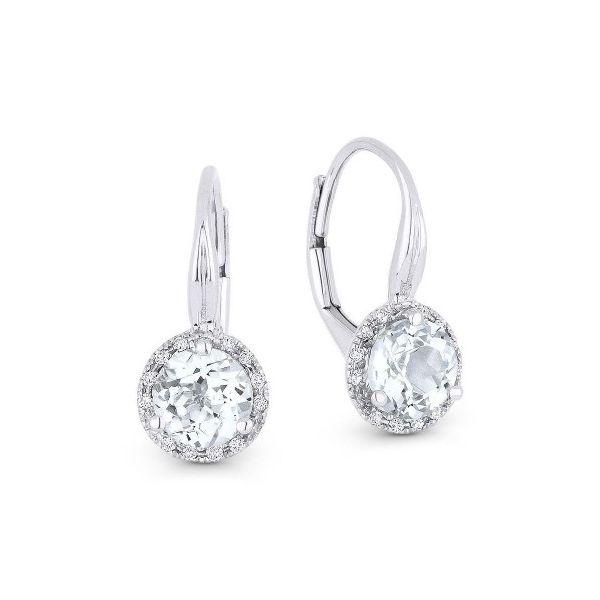 White Topaz and Diamond Drop Earrings Darrah Cooper, Inc. Lake Placid, NY
