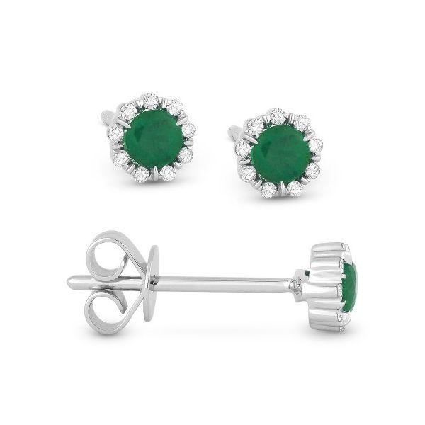 Emerald and Diamond Stud Earrings Darrah Cooper, Inc. Lake Placid, NY