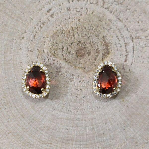 Garnet and Diamond Earrings Darrah Cooper, Inc. Lake Placid, NY