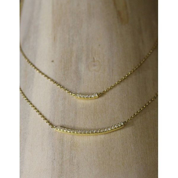 Gold Plated Double Layered Necklace Darrah Cooper, Inc. Lake Placid, NY