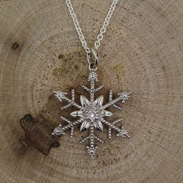Silver Diamond Snowflake Necklace Darrah Cooper, Inc. Lake Placid, NY