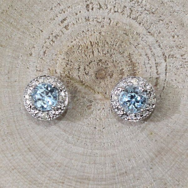 Sky Blue Topaz and Diamond Earrings Darrah Cooper, Inc. Lake Placid, NY