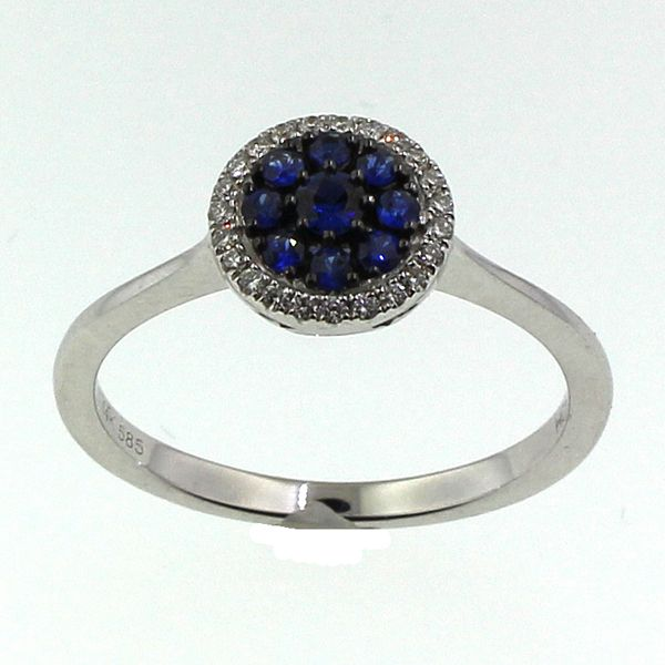 Cluster Sapphire and Diamond Ring Darrah Cooper, Inc. Lake Placid, NY