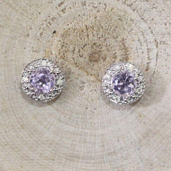 Lilac Amethyst and Diamond Earrings Darrah Cooper, Inc. Lake Placid, NY
