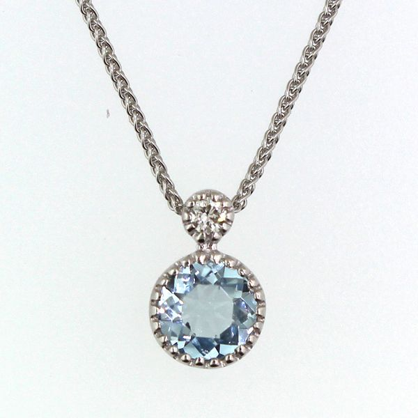Aquamarine and Diamond Necklace Darrah Cooper, Inc. Lake Placid, NY