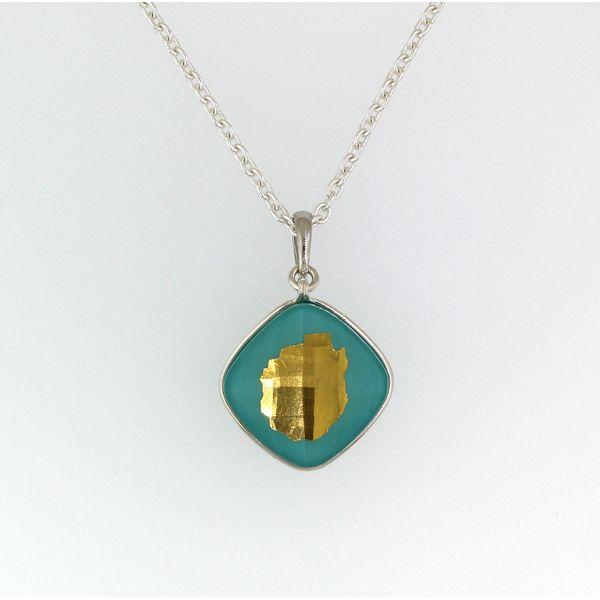 Adirondack Blue Line Necklace-Turquoise and Quartz-SMALL-1/2