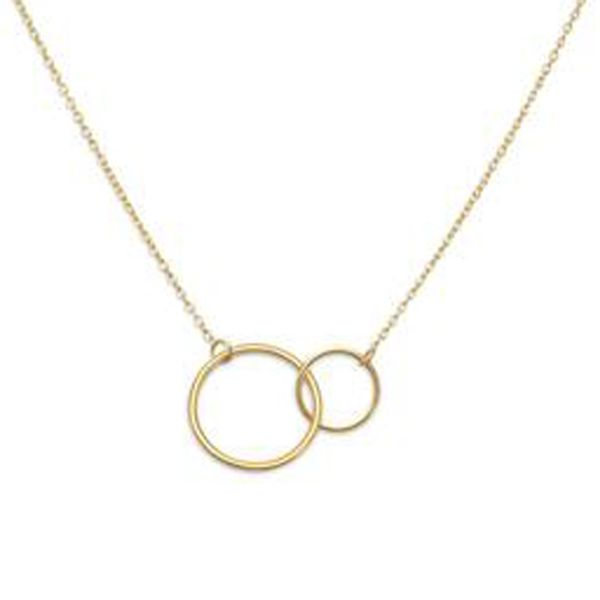 Gold Plated Intertwined Circles Necklace Darrah Cooper, Inc. Lake Placid, NY