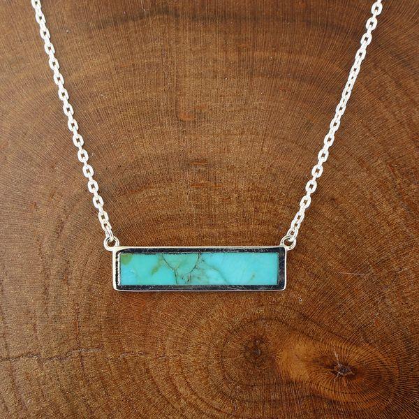 Turquoise Sideways Bar Necklace Darrah Cooper, Inc. Lake Placid, NY