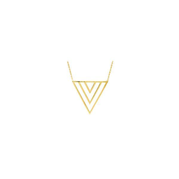 Yellow Gold Triple V Necklace Darrah Cooper, Inc. Lake Placid, NY
