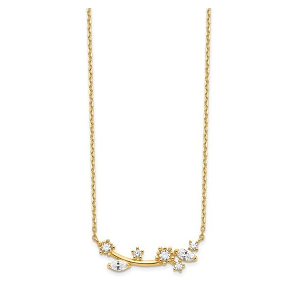 Gold Cubic Zirconia Branch/Leaves/Flowers Necklace Darrah Cooper, Inc. Lake Placid, NY