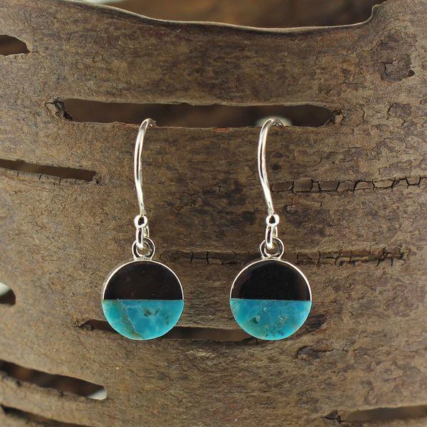 Turquoise Disc Earrings Darrah Cooper, Inc. Lake Placid, NY