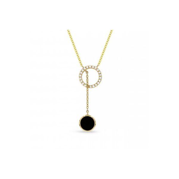 Black Onyx and Diamond Drop Necklace Darrah Cooper, Inc. Lake Placid, NY
