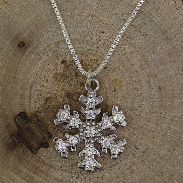 Cubic Zirconia Snowflake Necklace Darrah Cooper, Inc. Lake Placid, NY