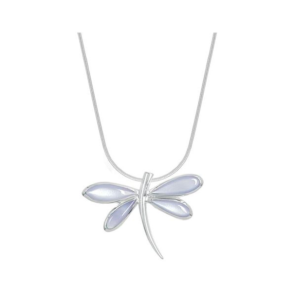 Purple Mother of Pearl Dragonfly Necklace Darrah Cooper, Inc. Lake Placid, NY