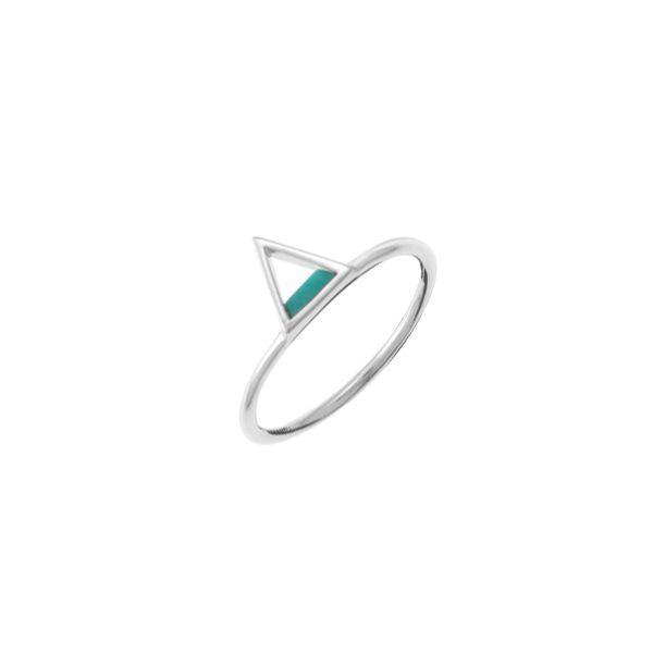 Mini Turquoise Triangle Ring Darrah Cooper, Inc. Lake Placid, NY