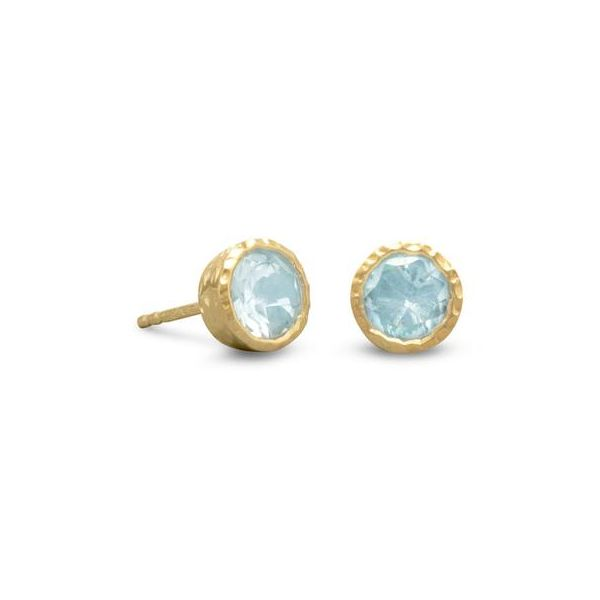 Gold Plated Blue Topaz Earrings Darrah Cooper, Inc. Lake Placid, NY
