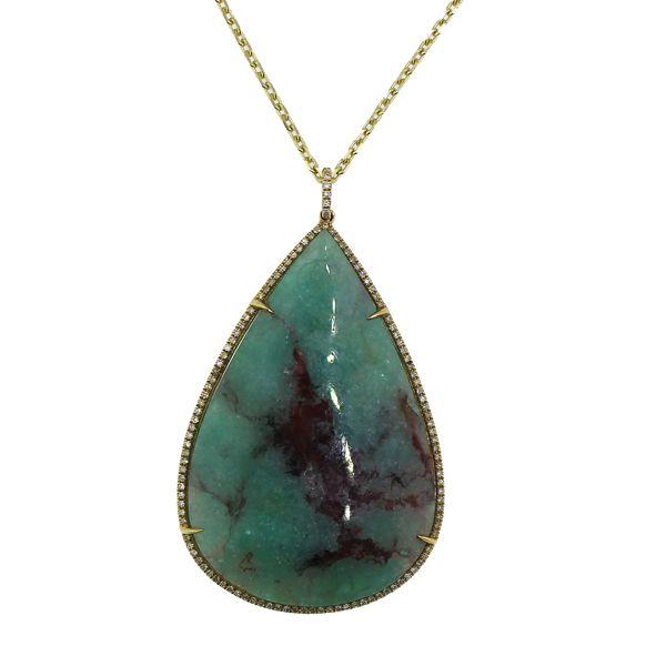 Paraiba Tourmaline and Diamond Necklace Darrah Cooper, Inc. Lake Placid, NY