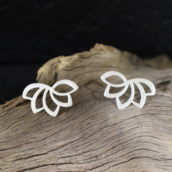 Lotus Flower Earrings Darrah Cooper, Inc. Lake Placid, NY