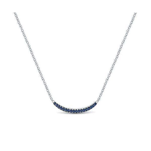 Sapphire Curved Bar Necklace Darrah Cooper, Inc. Lake Placid, NY