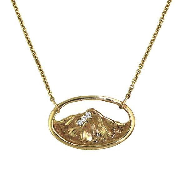 Whiteface Mountain Necklace with Diamonds Darrah Cooper, Inc. Lake Placid, NY