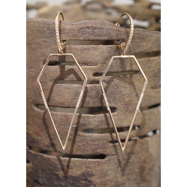 Geometric Diamond Earrings Darrah Cooper, Inc. Lake Placid, NY
