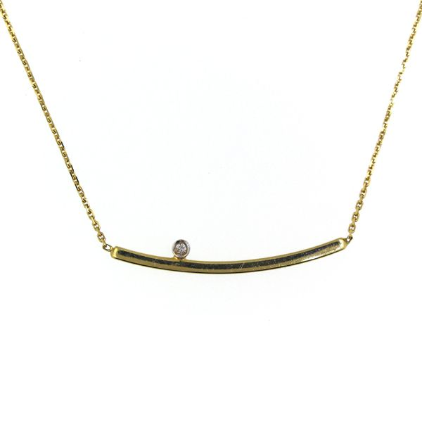 Bar Necklace with Accent Diamond Darrah Cooper, Inc. Lake Placid, NY