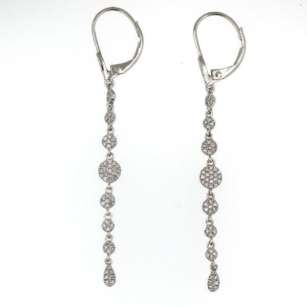 Linear Diamond Disc Earrings Darrah Cooper, Inc. Lake Placid, NY